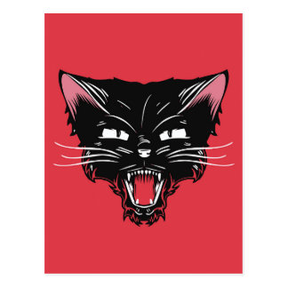 Postal enojada del gato