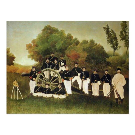 Postal Enrique Rousseau- los artilleros