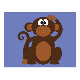 Postal enrrollada del mono