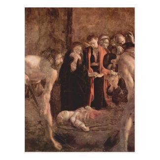 Postal Entierro de Caravaggio- del santo Lucy