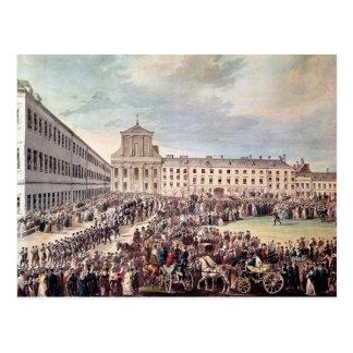 Postal Entierro de Ludwig van Beethoven en Viena