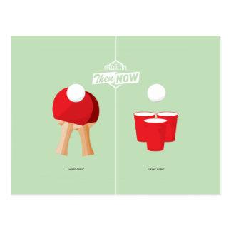 Postal Entonces y ahora: Ping-pong