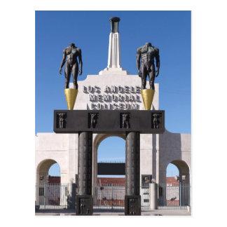 Postal Entrada al coliseo conmemorativo de Los Ángeles,