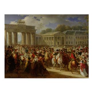 Postal Entrada de Napoleon I en Berlín