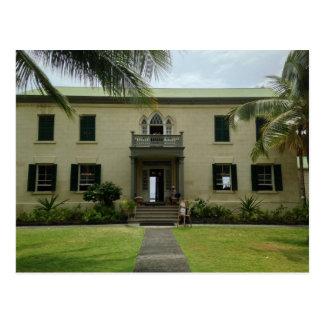 Postal Entrada del palacio de Hulihe'e en Kailua Kona,