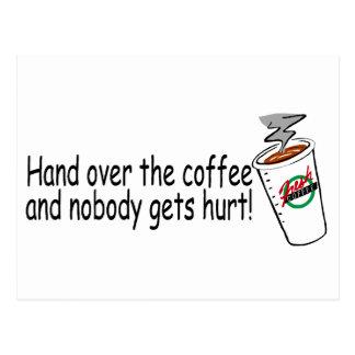 Postal Entregue el café y nadie consigue el daño 2