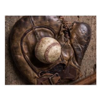 Postal Equipo de béisbol del vintage