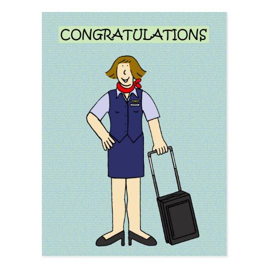 Postal Equipo de la cabina de la enhorabuena del retiro