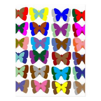 Postal EQUIPO de la mariposa: Aprenda los COLORES y la