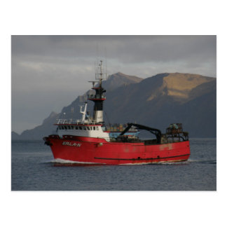 Postal Erla N, barco del cangrejo en el puerto holandés,