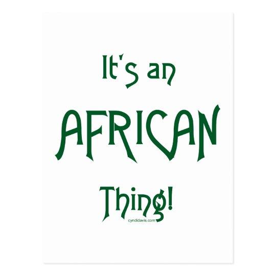 Postal Es una cosa africana