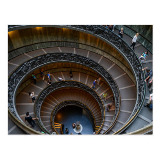 Postal Escalera espiral del museo de Vatican