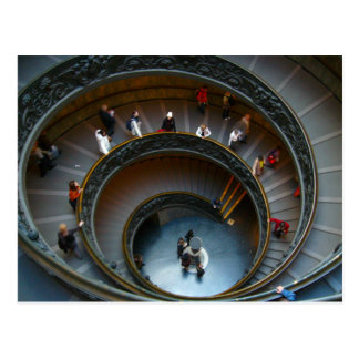 Postal escaleras espirales de vatican