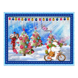 Postal escarchada del navidad de la entrega del