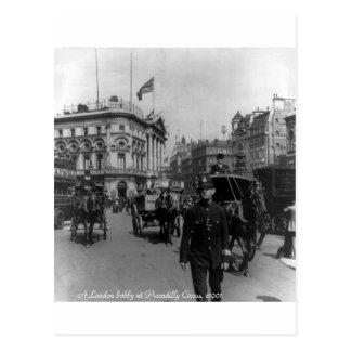 Postal Escena 1901 de la calle del circo de Londres