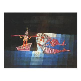 Postal Escena de batalla de Paul Klee- del ` cómico