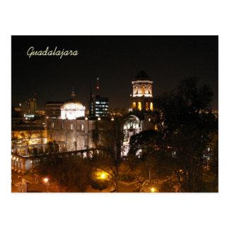 Postal Escena de la noche de Guadalajara