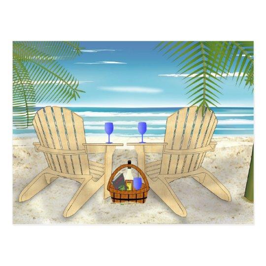 Postal Escena de la playa
