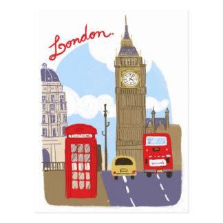 Postal Escena de Londres
