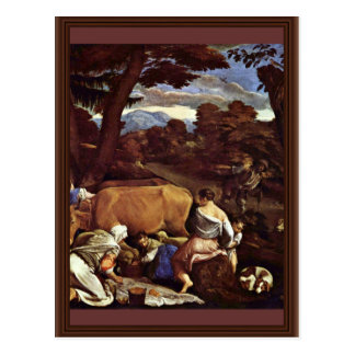Postal Escena pastoral de Ponte Jacopo DA (la mejor