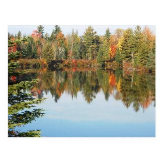 Postal Escena superior del otoño del río del cacho del