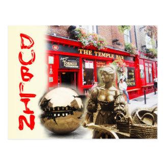 Postal Escenas de Dublín, Irlanda
