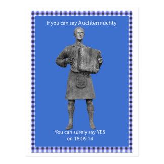 Postal escocesa de la independencia de
