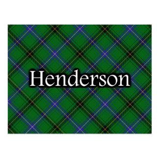 Postal escocesa del tartán de Henderson del clan