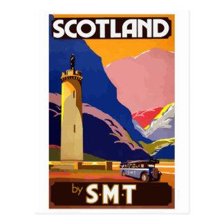 Postal Escocia del viaje del vintage