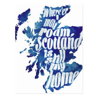 Postal Escocia es mi hogar
