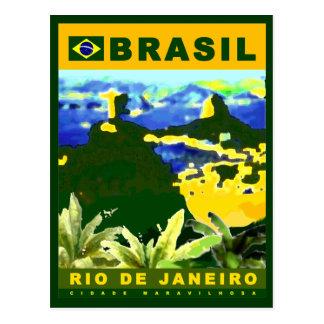 Postal Escriba sobre la ciudad de Río de Janeiro