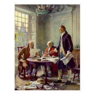 Postal Escritura de la Declaración de Independencia