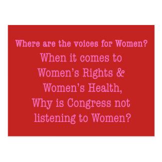Postal Escuche las mujeres (2017)