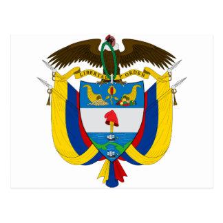 Postal Escudo de armas CO de Colombia