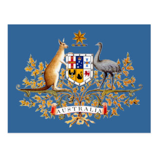 Postal Escudo de armas de Australia