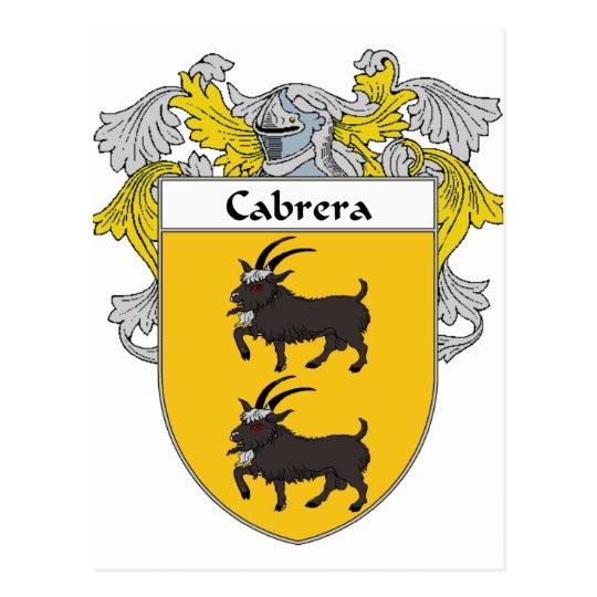 Postal Escudo de armas de Cabrera/escudo de la familia