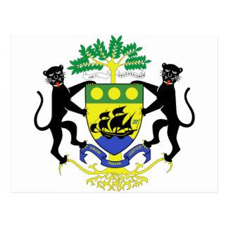 Postal Escudo de armas de Gabón