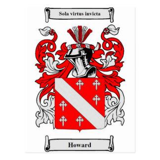 Postal Escudo de armas de Howard