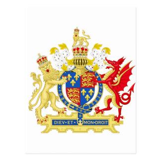 Postal Escudo de armas de Inglaterra