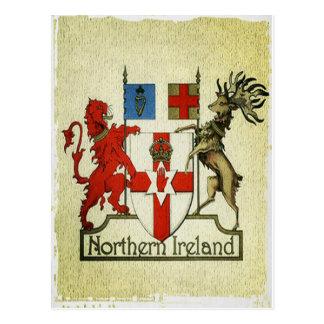 Postal Escudo de armas de Irlanda del Norte