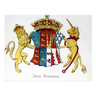 Postal Escudo de armas de Jane Seymour