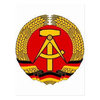 Postal Escudo de armas de la Alemania Oriental