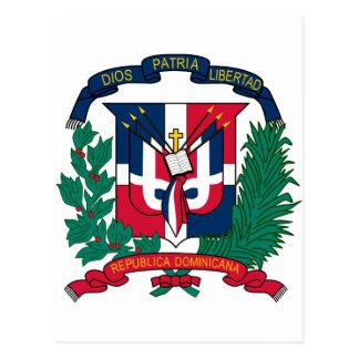Postal Escudo de armas de la República Dominicana