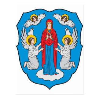 Postal Escudo de armas de Minsk
