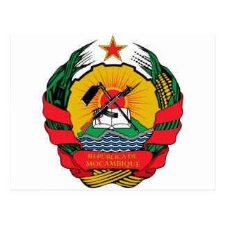 Postal Escudo de armas de Mozambique