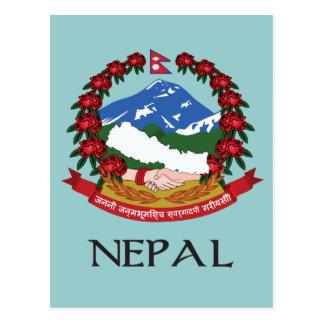 Postal Escudo de armas de Nepal