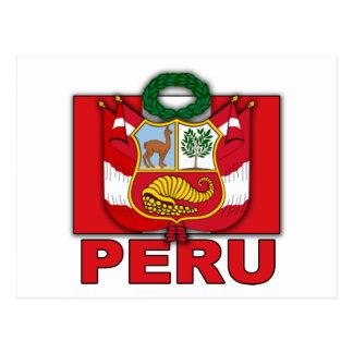 Postal Escudo de armas de Perú