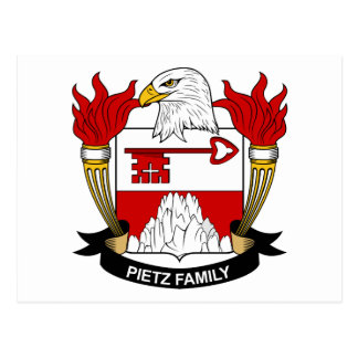 Postal Escudo de armas de Pietz/escudo de la familia