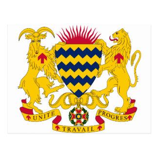 Postal Escudo de armas de República eo Tchad