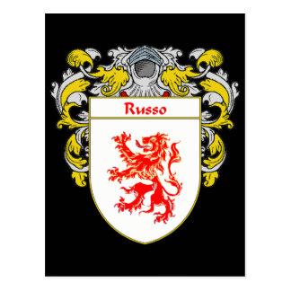 Postal Escudo de armas de Russo (cubierto)